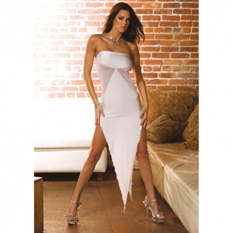 ABITO BIANCO SEXY BIAS CUT EVENING GOWN UNICA