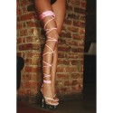GIARRETTIERA ROSA TWISTED LEG GARTER UNICA