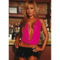 TOP FUCSIA SLINKLY HALTER UNICA