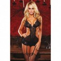 GUEPIERE LACE AND MESH TEDDY UNICA