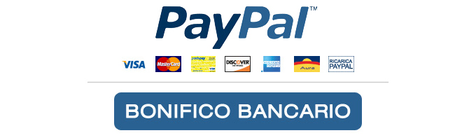 Secure Payments by PayPal, Credit Card or Bank Transfer